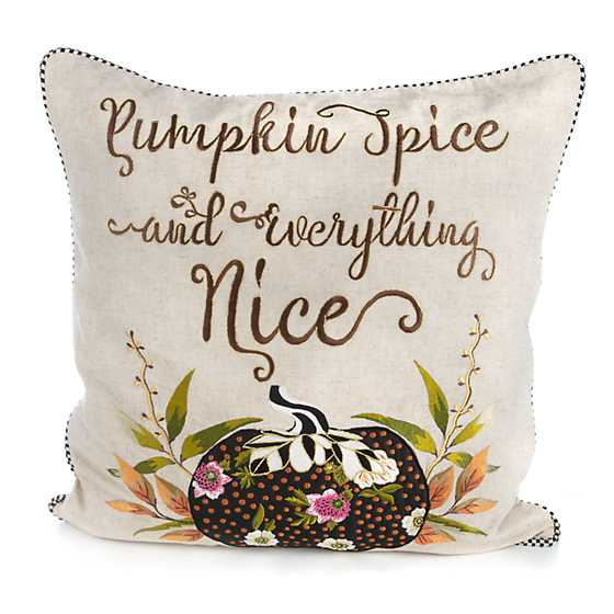 Pumpkin Spice & Everything Nice Pillow image one