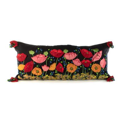 Image for Poppy Lumbar Pillow - Black