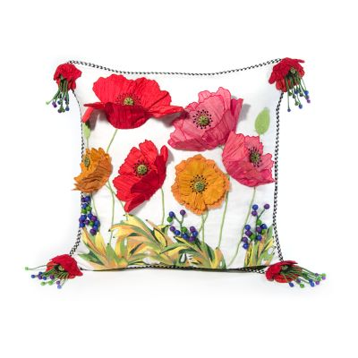 Red Poppy Square Pillow