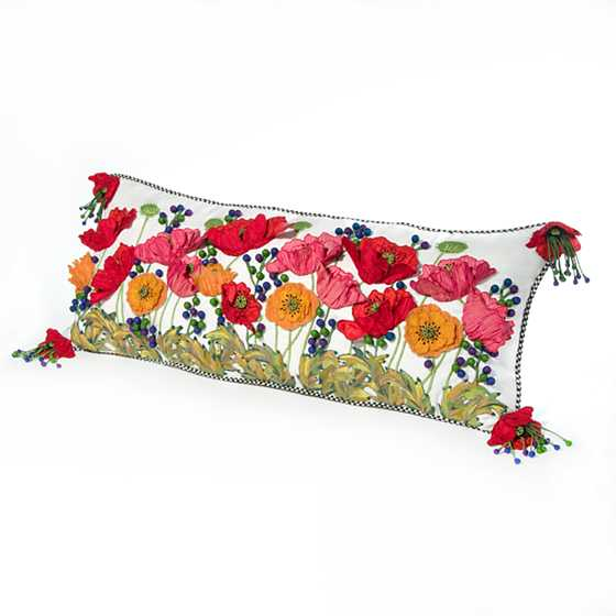 Red Poppy Lumbar Pillow image one