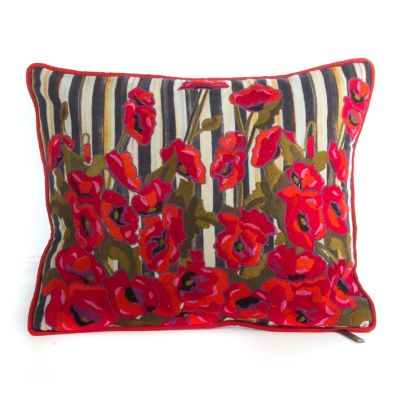 Poppy Garden Lumbar Pillow - Small