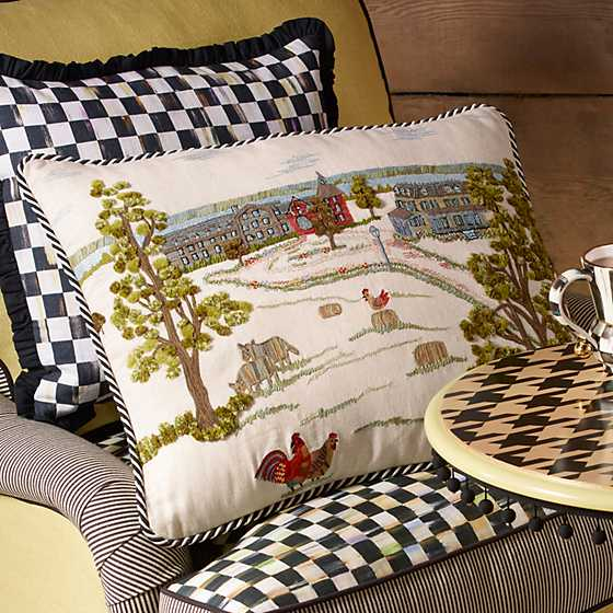 MacKenzie-Childs Farm Pillow image two