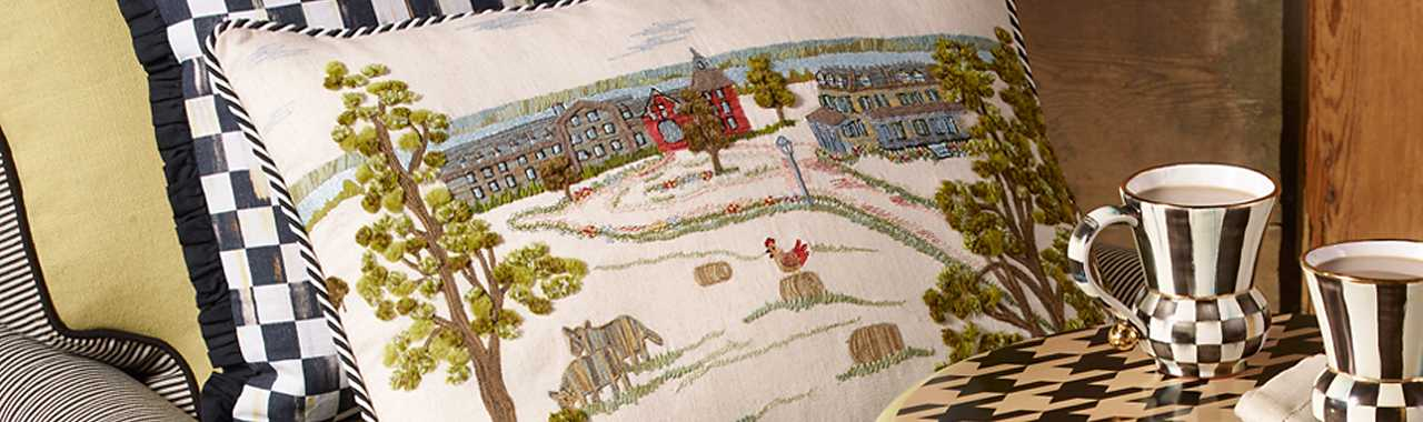 MacKenzie-Childs Farm Pillow Banner Image