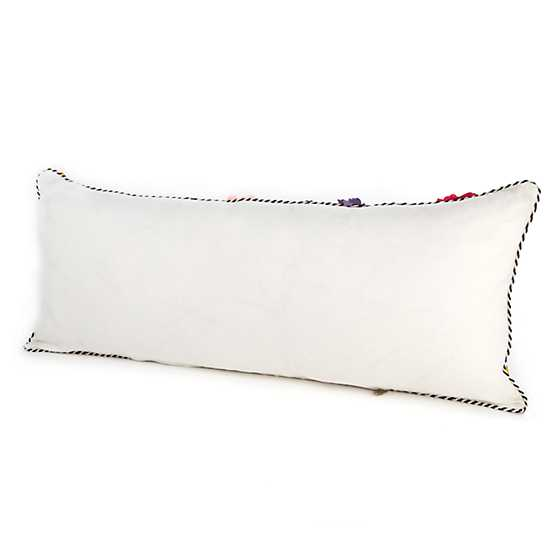 Covent Garden Floral Lumbar Pillow - White image three