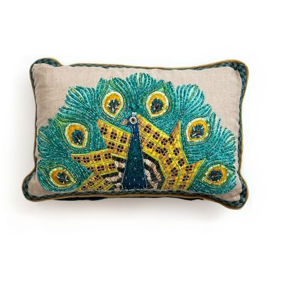 Image for Peacock Lumbar Pillow