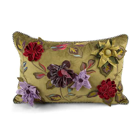 Greengage Floral Lumbar Pillow