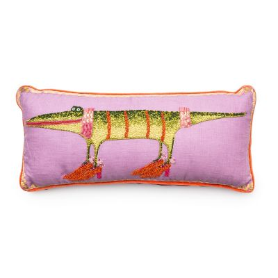 Patience Brewster Gloria Alligator Lumbar Pillow