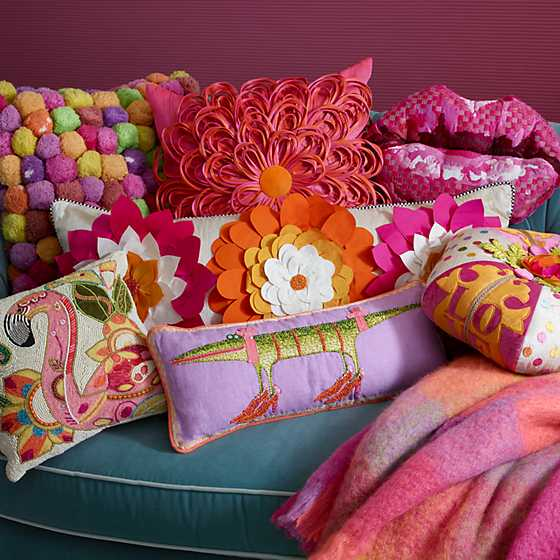 Super Pink Dahlia Lumbar Pillow image two