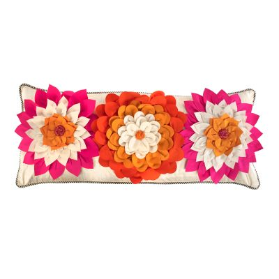 Image for Super Pink Dahlia Lumbar Pillow