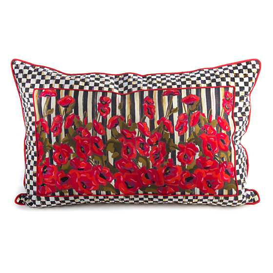 Poppy Garden Lumbar Pillow - Medium