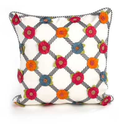 Tic-Tac-Posie Square Pillow