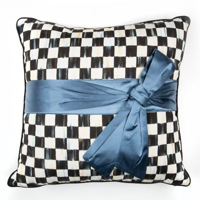 Image for Courtly Check Sash Pillow - Teal