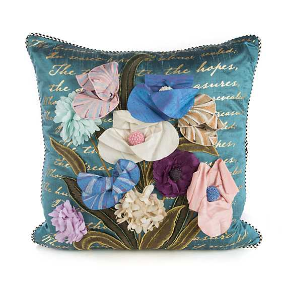 Bronte's Poetry Square Pillow