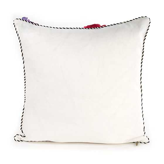 Covent Garden Floral Square Pillow - White image three