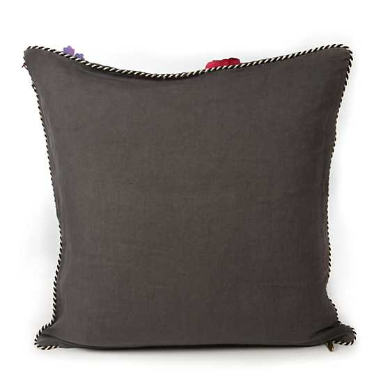 Covent Garden Floral Square Pillow - Grey image three