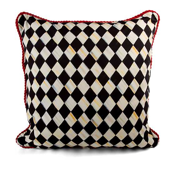 Courtly Harlequin Braid Pillow - Large