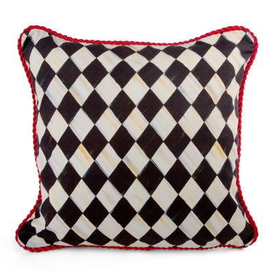 Courtly Harlequin Braid Pillow - Medium