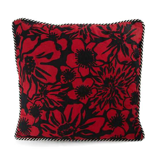 Baker Street Pillow - Black & Red