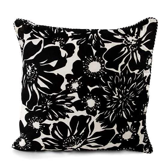 Mackenzie Childs Baker Street Pillow Black Amp White
