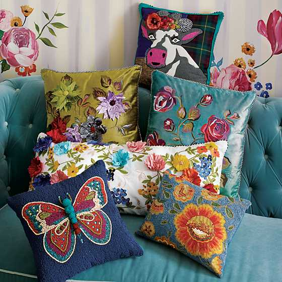Tivoli Gardens Pillow - Teal image five