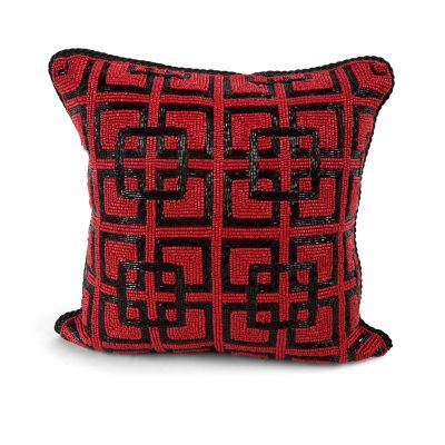Granville Gate Beaded Pillow