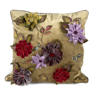 Greengage Floral Square Pillow