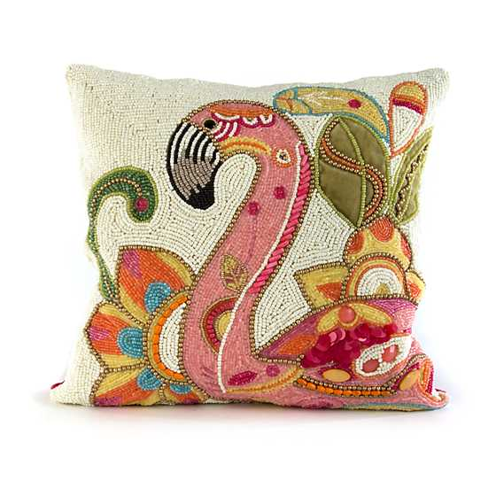 Groovy Flamingo Pillow image one