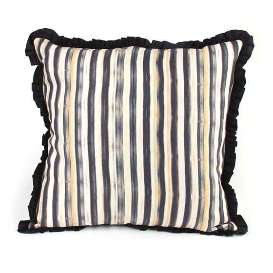 Courtly Check Ruffled Square Pillow image three