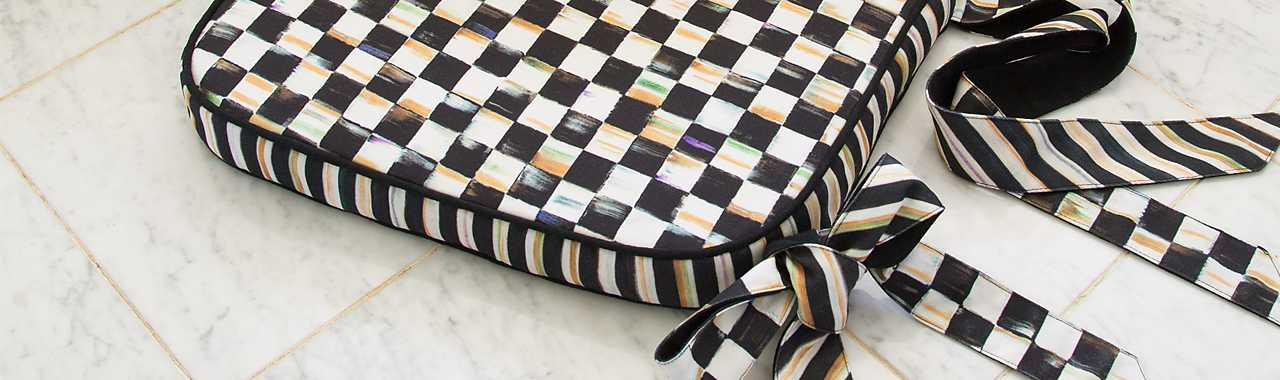 Courtly Check Chair Cushion Banner Image