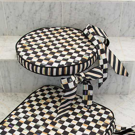 Courtly Check Round Stool Cushion image five