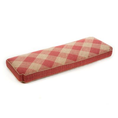 Carriage House Bench Cushion - Rhubarb