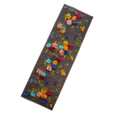 Covent Garden Floral Bed Scarf - Grey