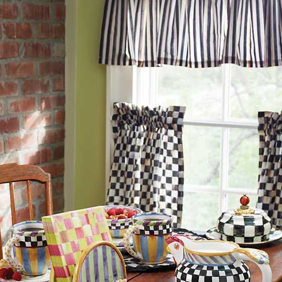 Courtly Check Cafe Curtains - Set of 2 image four