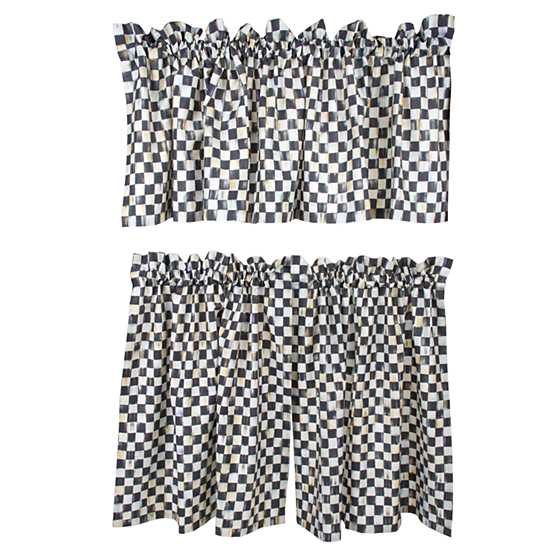 Courtly Check Cafe Curtains - Set of 2 image eleven