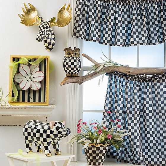 Courtly Check Cafe Curtains - Set of 2 image ten