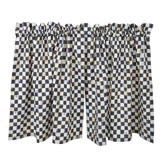 Courtly Check Cafe Curtains - Set of 2