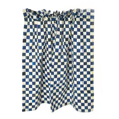 Royal Check Cafe Curtains - Set of 2