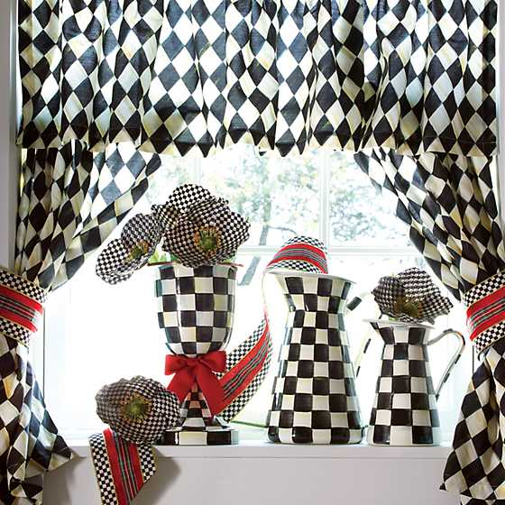 Courtly Harlequin Cafe Curtains - Set of 2 image four