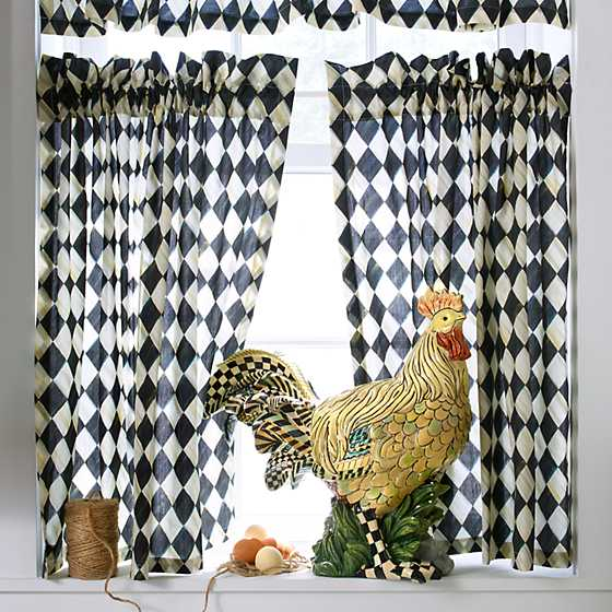 Courtly Harlequin Cafe Curtains - Set of 2 image seven