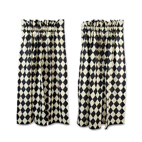 Courtly Harlequin Cafe Curtains - Set of 2