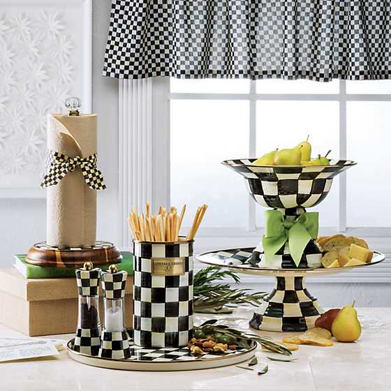 Courtly Check Tab Top Cafe Valance image two
