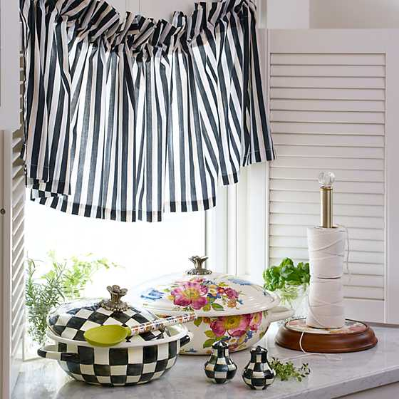 Courtly Stripe Cafe Valance image four