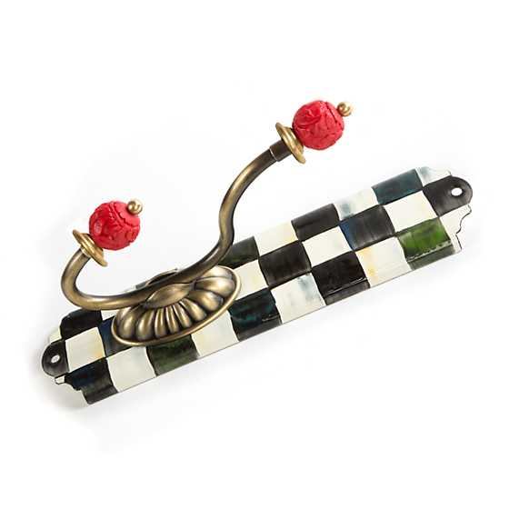 Courtly Check Enamel Single Wall Hook image three