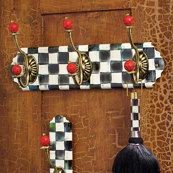 Courtly Check Enamel Triple Wall Hook image two