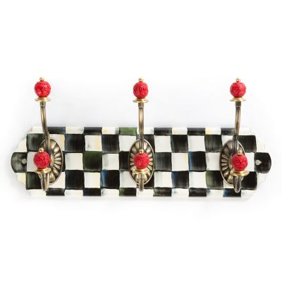 Courtly Check Enamel Triple Wall Hook