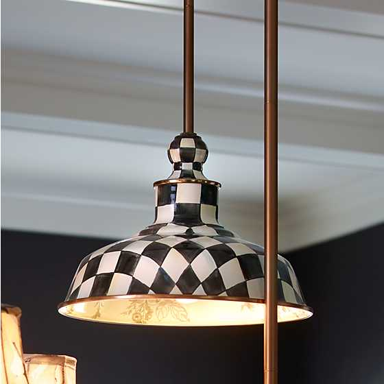 "Courtly Check Barn Pendant Lamp - 12"" image six"