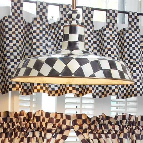 "Courtly Check Barn Pendant Lamp - 18"" image two"