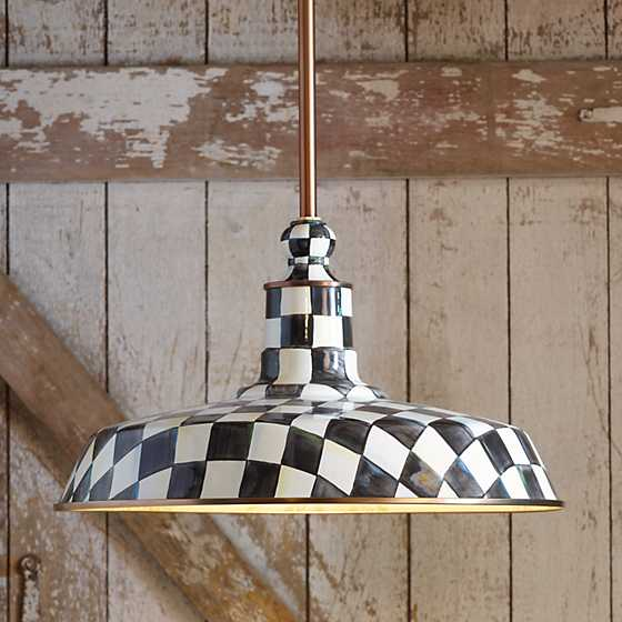 "Courtly Check Barn Pendant Lamp - 18"" image five"