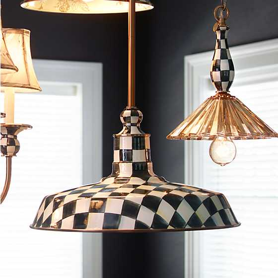 "Courtly Check Barn Pendant Lamp - 18"" image six"