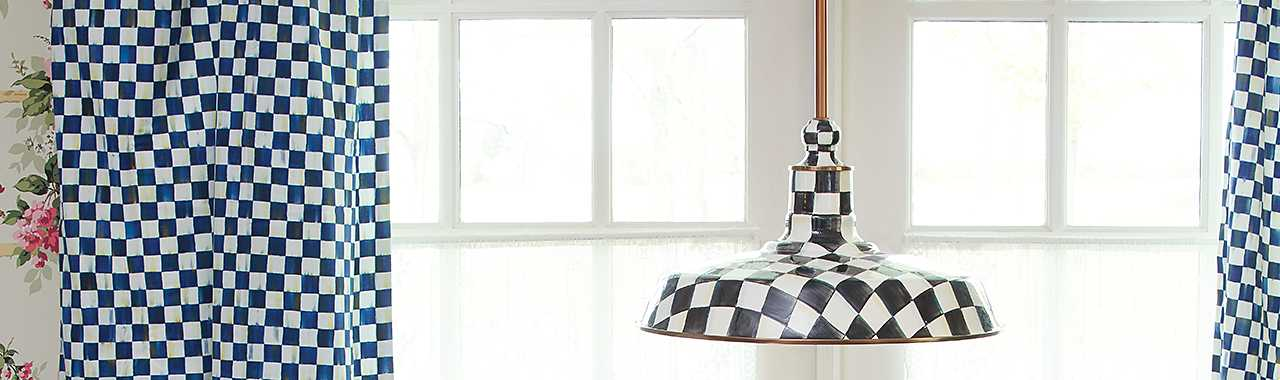 "Courtly Check Barn Pendant Lamp - 18"" Banner Image"